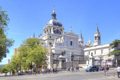 Catholic Cathedral of the Virgin of Almudena Stock Photography