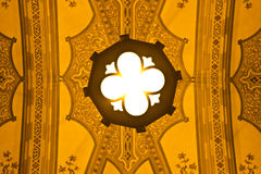 Catholic ceiling. Close up on the ceiling of a Catholic Church in Curitiba, Brazil Royalty Free Stock Photos