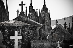 Catholic Cementery. Detail of a metal cross in a Catholic cemetery Stock Images