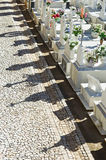 Catholic cemetery in Alentejo, Portugal Stock Images