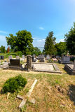 Catholic cemetery in Balatonszepezd / Kekkut, Hungary. stock photo