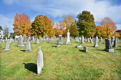 Catholic cemetery in fall. GRANBY QUEBEC CANADA 10 12 2016: Catholic cemetery in fall. Granby is the seat of La Haute-Yamaska Regional County Municipality. The Stock Images