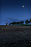 Catholic chapel at night. Catholic chapel in the countryside at night under the light of the moon, the Czech Republic, Moravia royalty free stock photography