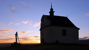 Catholic chapel silhouette Royalty Free Stock Photos