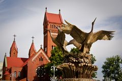 Catholic chapel St Simon and St Elena in Minsk. Belarus Royalty Free Stock Photo