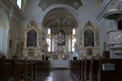 Catholic Chirch, interior picture Stock Image