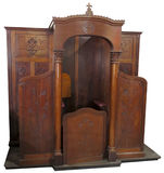 Catholic Christian Religion, Church Confessional, Isolated Stock Photo