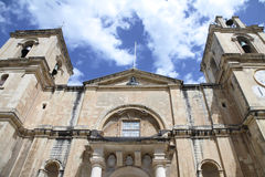 Catholic church. Front entrance of the grand cathedral of st. john's in valletta, malta Stock Photo