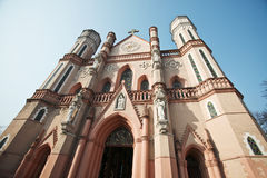 Catholic church. A old catholic church window in east China fuzhou jiangxi Royalty Free Stock Image