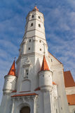 Catholic church. With tower in town Siauliai, Lithuania Stock Image