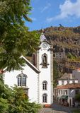 Catholic church. Funchal, Madeira, Portugal royalty free stock photos