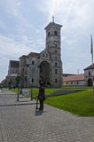 The catholic church in Alba Iulia, Romania Royalty Free Stock Photos