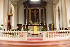 Catholic church altar Royalty Free Stock Photography