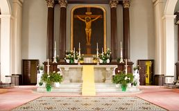 Catholic church altar Stock Photography