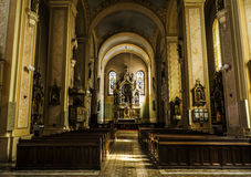 Catholic church. Amazing interior of an old catholic church in the city of  Sombor, Serbia Stock Photography