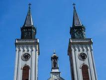 Catholic church. Amazing, old catholic church in the city of  Sombor, Serbia Royalty Free Stock Photos
