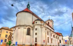 Catholic Church of Assumption of Our Lady in Brno, Czech Republic. Catholic Church of Assumption of Our Lady in the old town of Brno - Moravia, Czech Republic Royalty Free Stock Photography