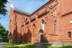 Catholic church of Assumption of Virgin Mary, Palanga, Lithuania Royalty Free Stock Images