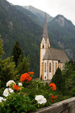 Catholic church in  Austrian Alps Stock Photography