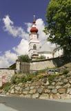 Catholic church in austrian village Stock Photo