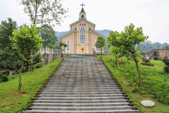 Catholic church in bailu town,sichuan,china Royalty Free Stock Photos