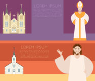 Catholic Church Banner Stock Image