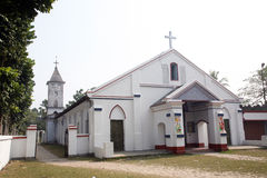 Catholic Church in Basanti, West Bengal, India Royalty Free Stock Image