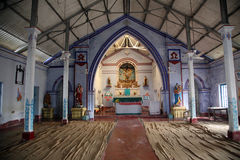 Catholic Church in Basanti, West Bengal, India Royalty Free Stock Images