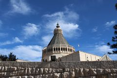 The Catholic Church, the Basilica of Annunciation in Nazareth, Israel stock photography