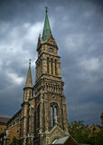 Catholic church in Budapest stock images