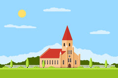 Catholic church building Royalty Free Stock Photo