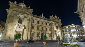 Catholic Church called `Complesso di San Firenze` timelapse hyperlapse in the square called `Piazza di S. Firenze` at. Catholic Church called Complesso di San stock video