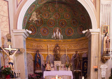Catholic church of Cargese, Corse, France Royalty Free Stock Photo