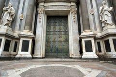 Catholic church of Catania. Sicily Royalty Free Stock Images