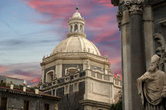 Catholic church of Catania. Sicily Royalty Free Stock Images