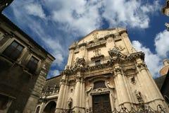 Catholic church of Catania. Sicily Stock Photos