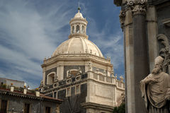 Catholic church of Catania. Sicily, southern Italy Royalty Free Stock Images