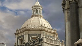 Catholic church of Catania. Sicily, southern Italy. Baroque architecture. Unesco world heritage site stock footage