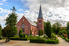 Catholic church and cemetery in Dragor Royalty Free Stock Photos