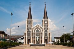 Catholic church at Chantaburi province Royalty Free Stock Image