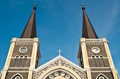 Catholic church at Chantaburi province Stock Images
