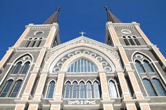 Catholic church at Chantaburi province, Thai Royalty Free Stock Photography