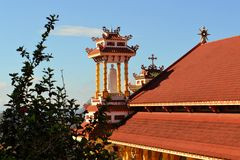 Catholic church with Chinese temple architecture Royalty Free Stock Image