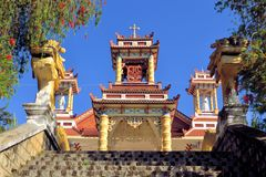 Catholic church with Chinese temple architecture Royalty Free Stock Images