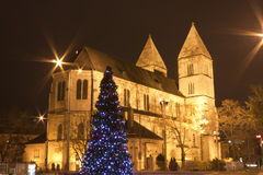 Catholic church at christmastime in Budapest Royalty Free Stock Images