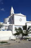 Catholic church with church tower in La Goulette,Tunisia Royalty Free Stock Photo