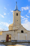 Catholic church and cloudy blue sky. Photo of Catholic church and cloudy blue sky Stock Image