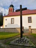Catholic Church and the Cross Royalty Free Stock Photo