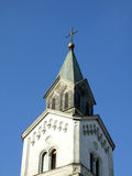 Catholic church dome. Against the blue sky Royalty Free Stock Photography