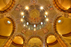 Catholic church dome. Alba, Italy. Stock Images